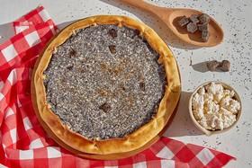Маковый пирог с творогом и шоколадом - Фото