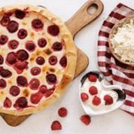 Пирог с малиной и творогом Фото
