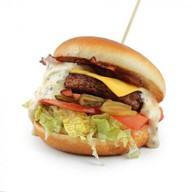 Бургер с беконом Фото