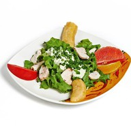 Куриный салат в тропическом стиле Фото