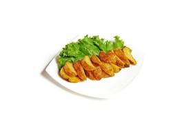 Картофельные дольки с кожурой - Фото