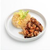 Свинина в кляре с рисом Фото