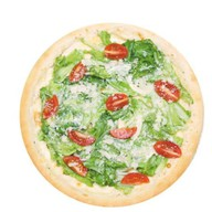 Цезарь де люкс с креветкой пицца Фото