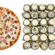 Жареный премиум сет +  2 пиццы Фото