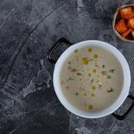 Грибной крем-суп с трюфельным маслом Фото
