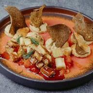 Хумус с хрустящими баклажанами Фото