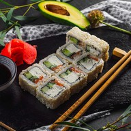 Сливочные роллы с лососем Фото