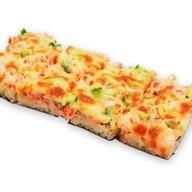 Суши-пицца с угрем Фото