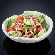 Салат с копченой курицей Фото