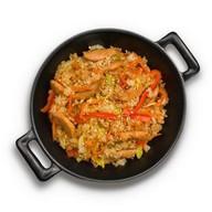 Рис с курицей в соусе терияки Фото