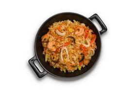 Рис с морепродуктами в соусе терияки - Фото