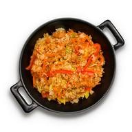 Рис с овощами в соусе терияки Фото
