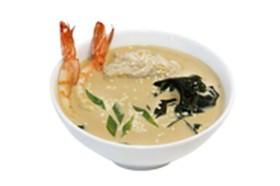 Сливочный суп с креветкой - Фото