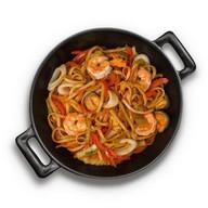 Лапша с морепродуктами в соусе терияки Фото