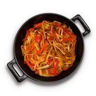 Лапша с овощами в соусе терияки Фото