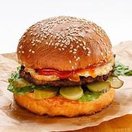 Гамбургер с бифштексом Фото