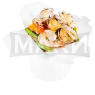 Соба с морепродуктами Фото