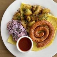 Улитка-гриль с индейкой чили, картофелем Фото