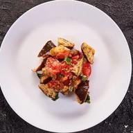 Салат с баклажанами Фото