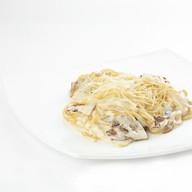 Курица с грибами паста Фото