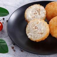 Рисовые шарики с курицей Фото