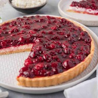 Творожно-вишнёвый тарт Фото
