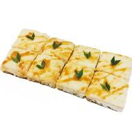 Пицца на рисовой подушке с лососем Фото