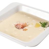 Сырный крем-суп с беконом Фото