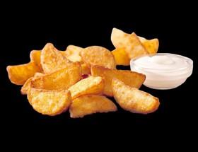 Картофельные дольки с корнишонами - Фото