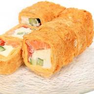 Тортилья с лососем темпура Фото