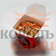 Удон с курицей в соусе терияки Фото