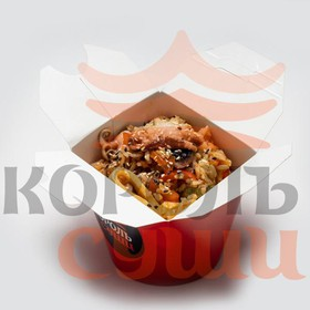 Яичная лапша с морепродуктами - Фото