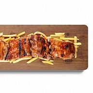 Шашлык метр свиных ребрышек Фото