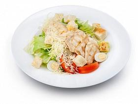 Цезарь с цыпленком стандартная порция - Фото