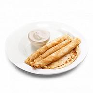Блины со сметаной (завтрак) Фото