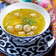 Суп-лапша с куриными фрикадельками Фото