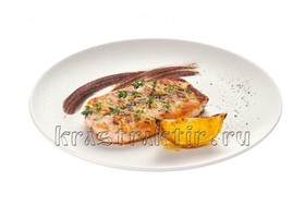 Филе семги в маринаде с горчицей - Фото