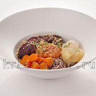 Гречневая лапша с печеными овощами Фото
