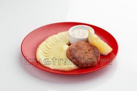 Котлета из сёмги с картофельным пюре - Фото