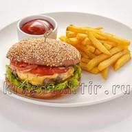 Печьбургер с куриным филе Фото