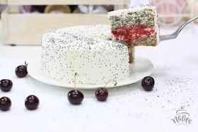 Торт мини маково-вишнёвый - Фото