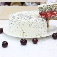 Торт мини маково-вишнёвый Фото