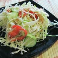 Салат с мясом донера и свежими овощами Фото