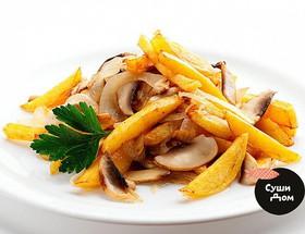 Картофель с грибами и луком - Фото