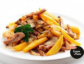 Картофель с мясом и грибами - Фото