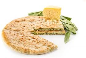 Пирог с сыром и листьями черемши - Фото