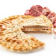 Пирог с говядиной и свининой Фото