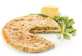 Пирог с сыром, шпинатом и зеленью - Фото