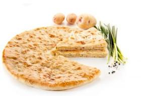 Пирог с картошкой и зеленым луком - Фото