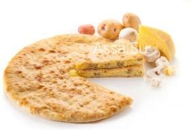 Пирог с сыром, грибами, картошкой - Фото